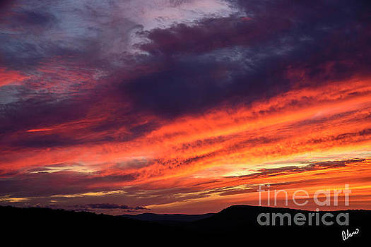 Bright Colorful Sunset by Alana Ranney