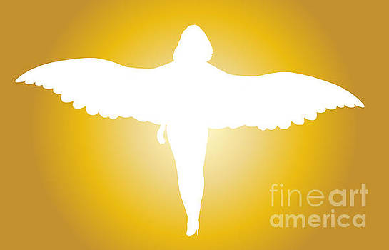 Bright White Femle Angel Silhouette by Bigalbaloo Stock