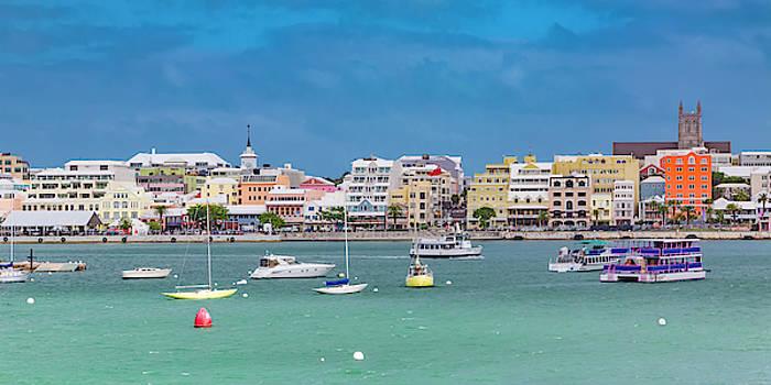 Brilliant Bermuda  Cityscape by Betsy Knapp