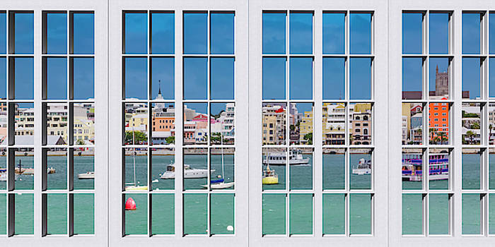 Brilliant Bermuda Cityscape Windows by Betsy Knapp