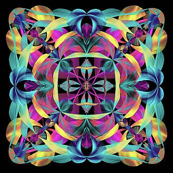 Brilliant  Lights Mandala by Grace Iradian