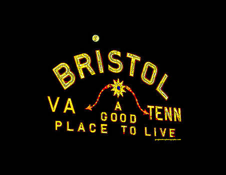 Bristol Sign and the Moon by Greg Booher