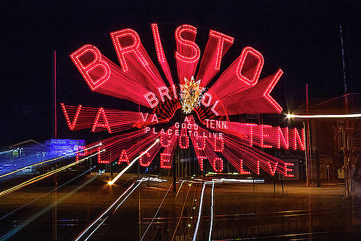 Bristol Sign in Pink 2 by Greg Booher