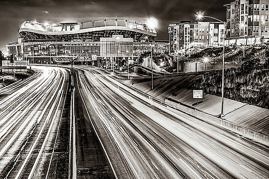 Broncos Stadium at Mile High - Downtown Denver Sepia by Gregory Ballos