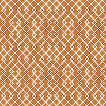 Bronze Orange Diamond Pattern by Ross