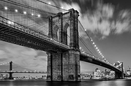 Brooklyn Bridge and Clouds by Randy Lemoine