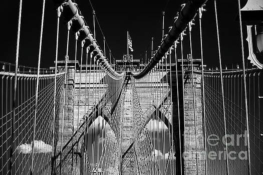 Brooklyn Bridge Impression  by George Oze