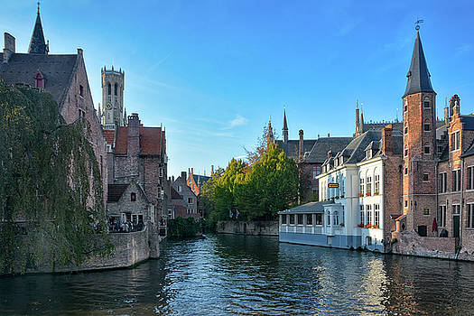 Bruges at the Rozenhoedkaai by Joachim G Pinkawa