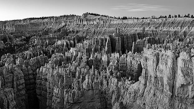 Bryce Hoodoos bw by Jerry Fornarotto