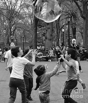 Bubble Fun - Central Park in Spring by Miriam Danar