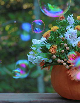 Cathy Lindsey - Bubbles And Pumpkin Flower Bowl