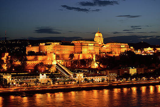 Budapest Castle at Night by Kathy Yates