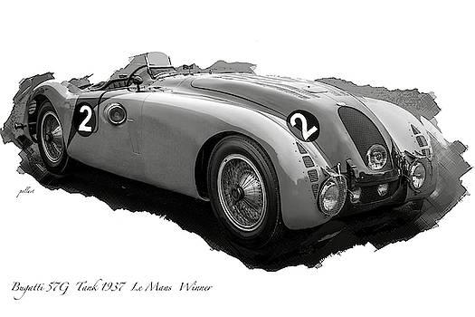 Bugatti 57G, 1937 Le Mans Winner, 1936 French Grand Prix by Thomas Pollart