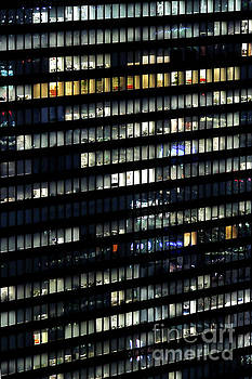 Building at night in Tokyo by Delphimages Photo Creations