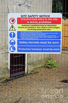 Building site sign by Tom Gowanlock
