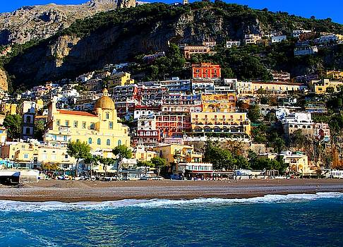 Buildings of Positano by Catie Canetti