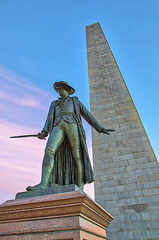 Bunker Hill Monument and William Prescott by Juergen Roth