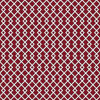 Burgundy Red Diamond Pattern by Ross