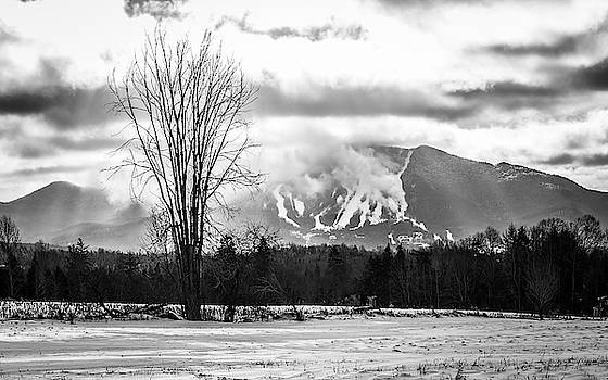 Burke Mountain Snowmaking BW by Tim Kirchoff