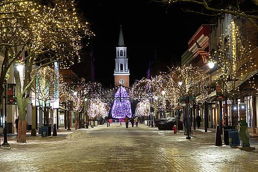 Burlington Vermont Church Street at Christmas by Jeff Folger