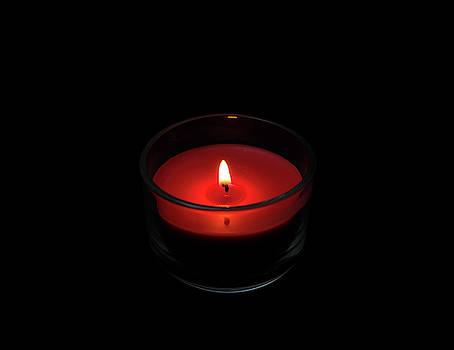 Burning Candle by David Stasiak
