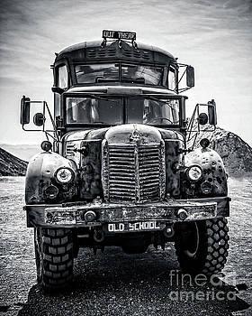 Burning Man Type School Bus by Edward Fielding