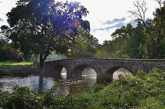 Burnside Bridge Repaired Stonework by William Fox