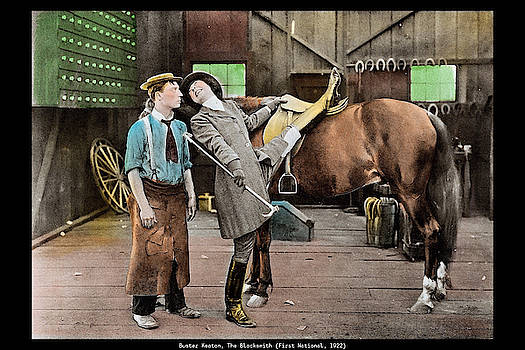 Buster Keaton The Blacksmith 1922 Classical Movie Poster by Vincent
