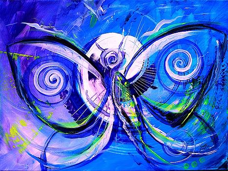 Butterfly Blue Violet by J Vincent Scarpace