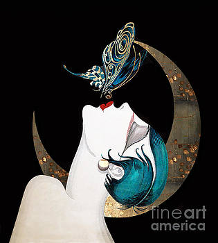 Tina Lavoie - Butterfly Kiss French Art Deco Woman Remix