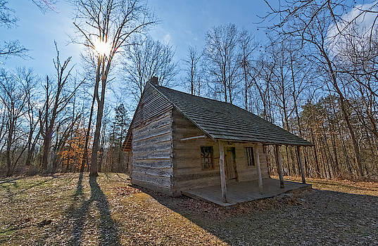 Cabin at Myers Farm Muscatatuck National Wildlife Refuge IN by Ina Kratzsch