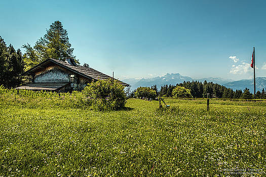 Cabin by the Alps by Fabio Gomes Freitas