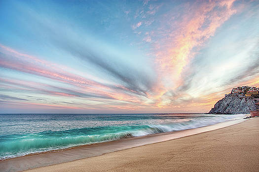 Cabo San Lucas Beach Wave Sunset by Nathan Bush