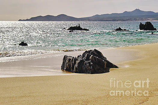 Cabo San Lucas Beach with Rock Formations by George Oze