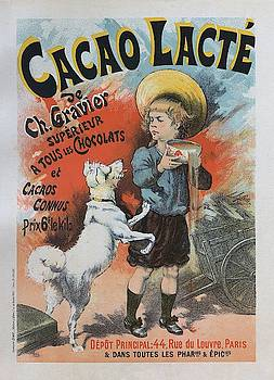 Cacao lacte, 1893 French Vintage Poster by Lucien Lefevre