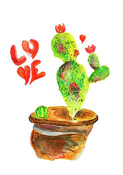 Cactus In Love by Creatives Think