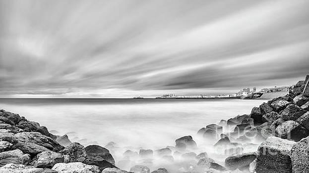 Cadiz Skyline from Santa Maria del Mar Beach Spain by Pablo Avanzini