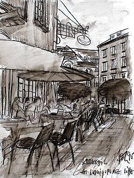 Cafe Krokodil Karlsruhe  by Andreas Hoetzel