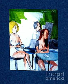 Cafe Regulars by Harry WEISBURD