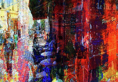 Cafeszene Paris Montmartre by Lee Eggstein