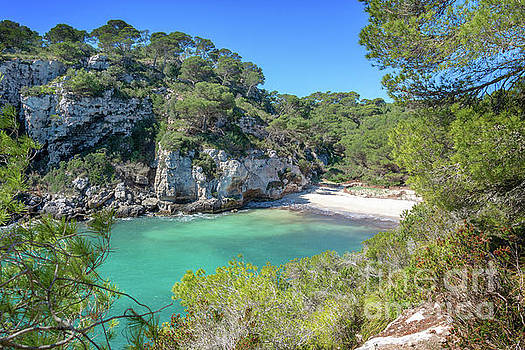 Cala Macarelleta beach in Menorca by Delphimages Photo Creations