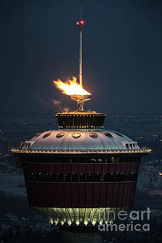 Calgary Tower - 2014 Olympic Torch by Brad Allen Fine Art