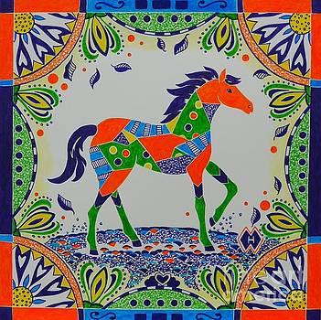 Calico Horse by Heather McFarlane-Watson