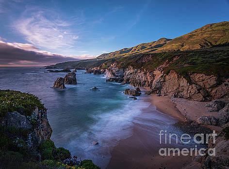California Big Sur Evening Coastal Tranquility by Mike Reid