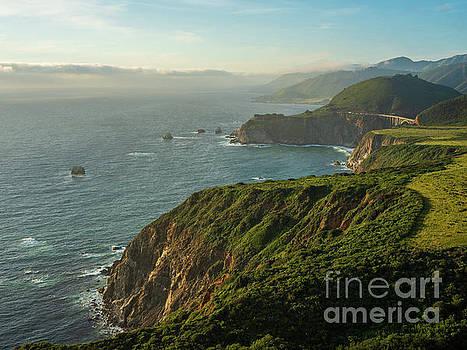 California Coast Highway 1 Golden Light by Mike Reid