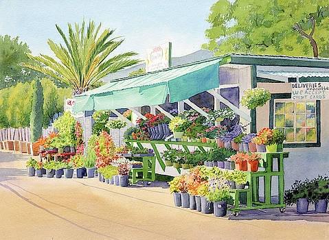 California Flower Stand by Mary Helmreich