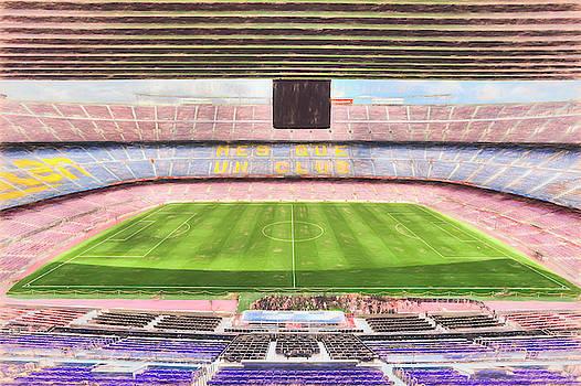 Camp Nou Stadium Art by David Pyatt