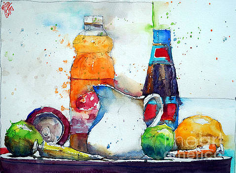Can of soda and yellow tube by Andre MEHU