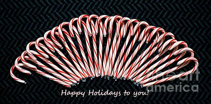 Candy Cane Happy Holidays to you by Christopher Shellhammer