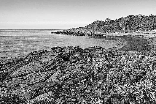 Toby McGuire - Canoe Beach Nahant MA Lodge Park Black and White